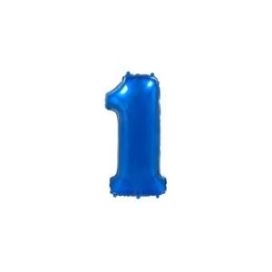 Globo Foil número 1 en color Azul